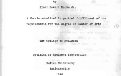 Elmer H. Brown, Jr.'s 1940 Dissertation
